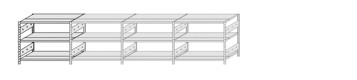 Regal - Komplettregal 1000 mm